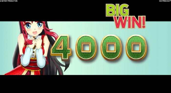 All Online Pokies - The Coin Win feature awards 4000 coins for a big win!