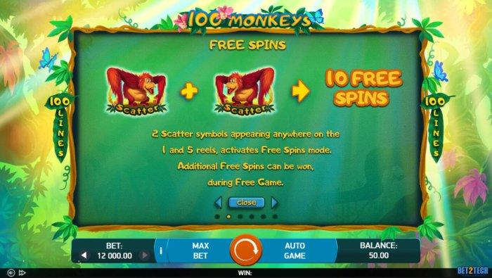 100 Monkeys by All Online Pokies