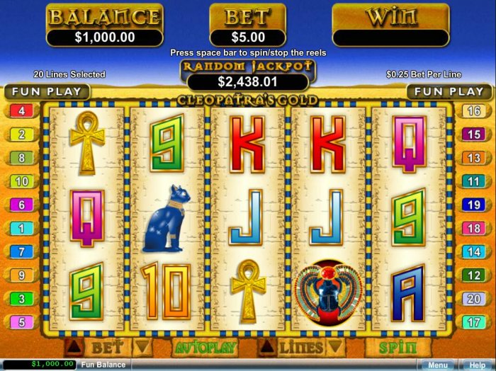 Cleopatra's Gold by All Online Pokies