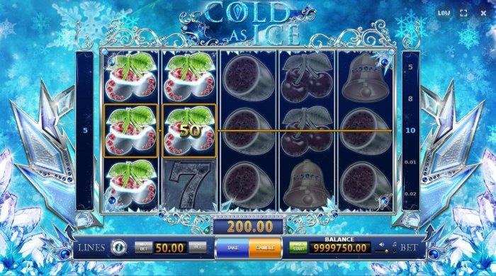 Cherries form multiple winning combinations - All Online Pokies