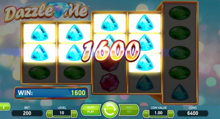 All Online Pokies - Multiple win lines triggers a 1600 coin jackpot