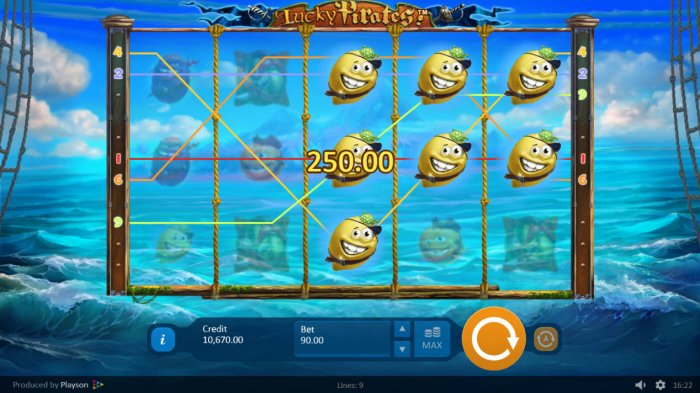 Multiple winning paylines by All Online Pokies