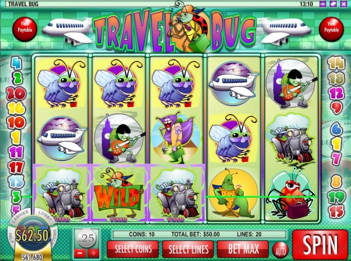 All Online Pokies image of Travel Bug