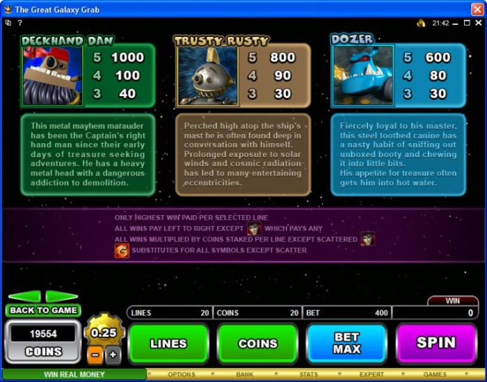All Online Pokies image of The Great Galaxy Grab