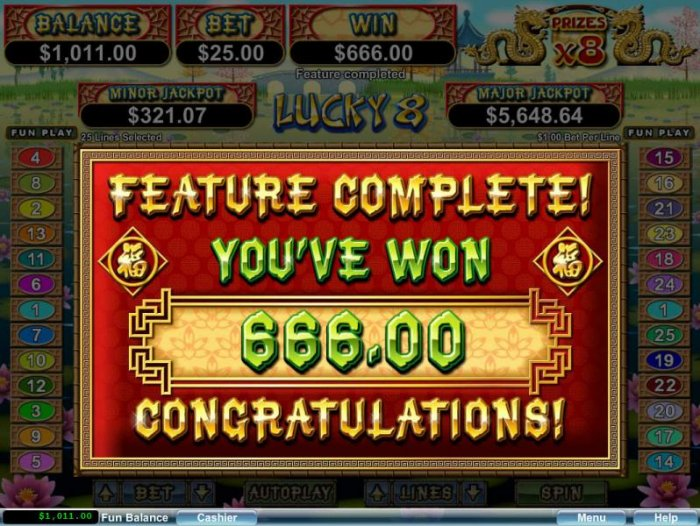 Lucky 8 by All Online Pokies
