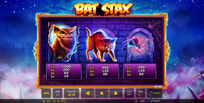 All Online Pokies image of Bat Stax