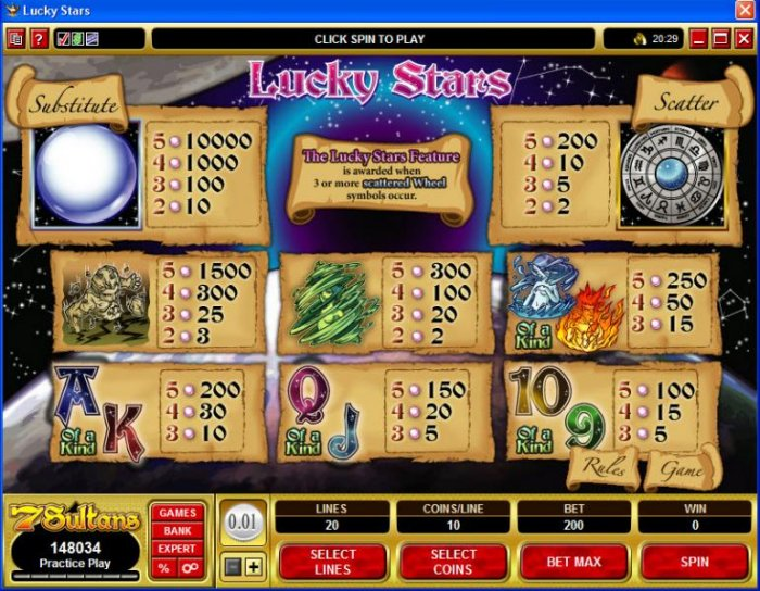 All Online Pokies image of Lucky Stars