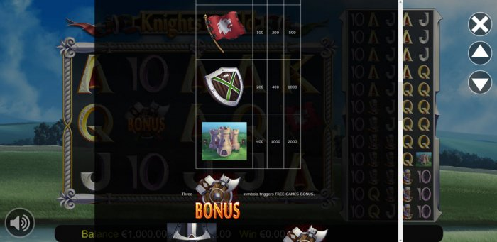 All Online Pokies image of knights of Gold