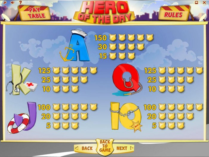 All Online Pokies image of Hero of the Day