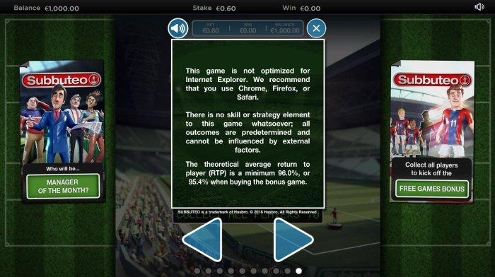 All Online Pokies image of Subbuteo