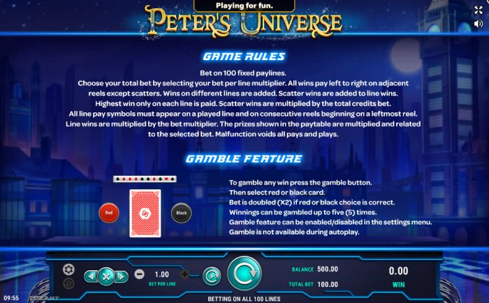 Images of Peter's Universe