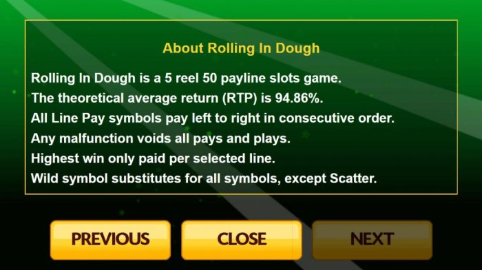 All Online Pokies image of Rolling In The Dough