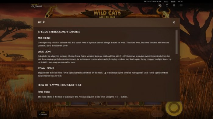 Images of Wild Cats Multiline
