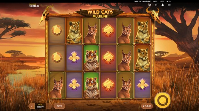 All Online Pokies image of Wild Cats Multiline