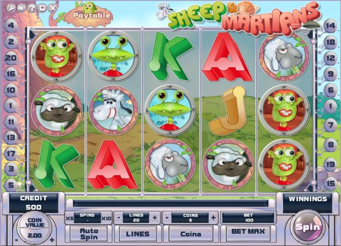 All Online Pokies image of Sheep and Martians