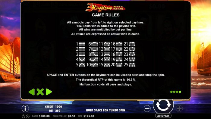 All Online Pokies image of 3 Kingdoms Battle of Red Cliffs