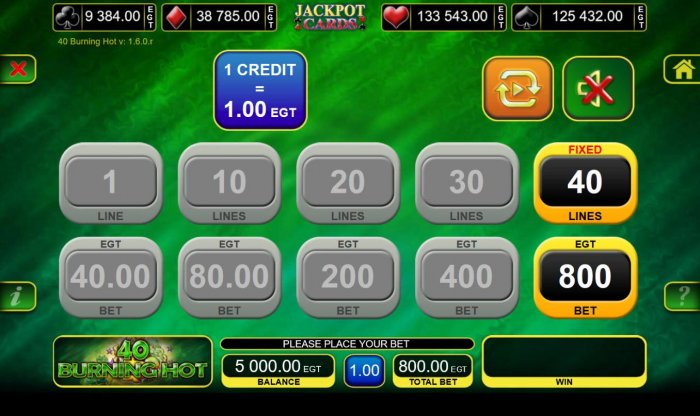 All Online Pokies - Total Bet Options