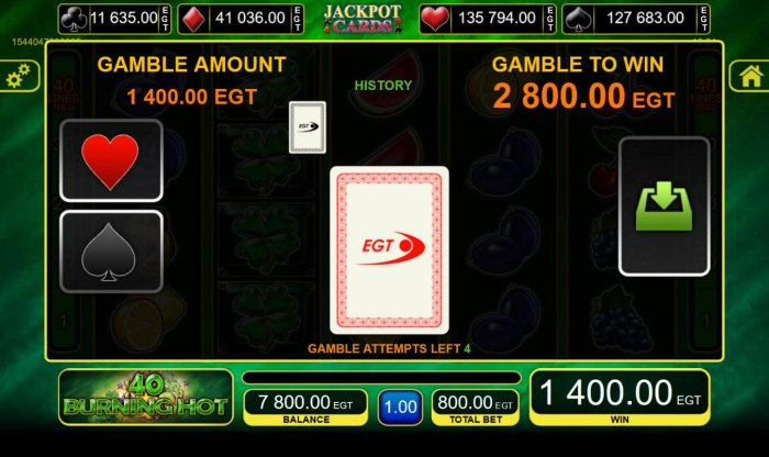 All Online Pokies image of 40 Burning Hot