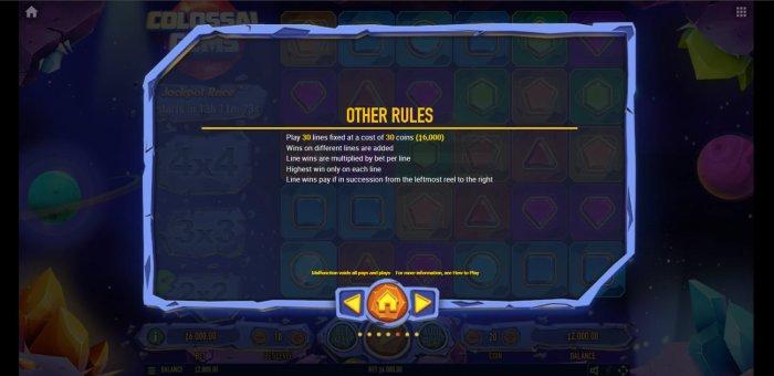 General Game Rules - All Online Pokies