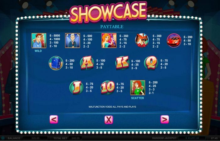 All Online Pokies image of Showcase