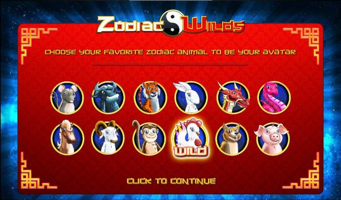 Choose your favorite zodiac animal to be your wild symbol - All Online Pokies