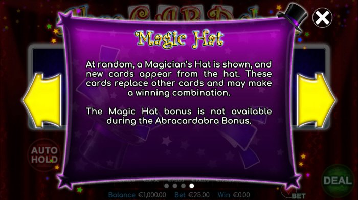 Magic Hat - All Online Pokies