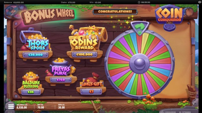 All Online Pokies - Bonus Wheel Game Board