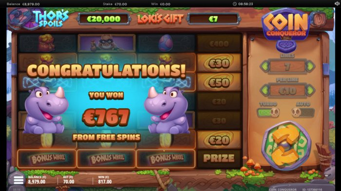 Total free spins payout - All Online Pokies