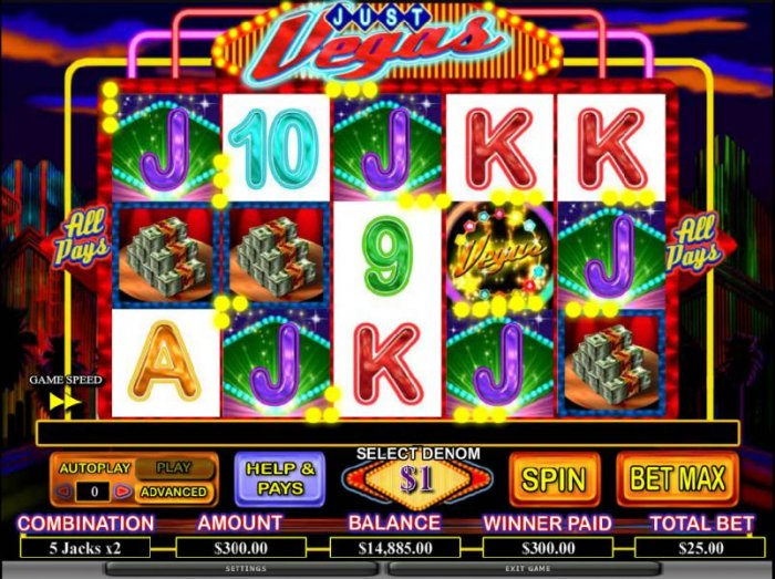 All Online Pokies image of Just Vegas