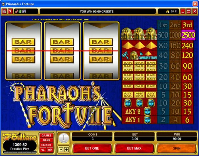 Images of Pharaoh's Fortune