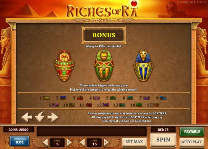 Riches of Ra screenshot