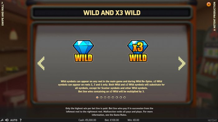 All Online Pokies image of Swipe and Roll