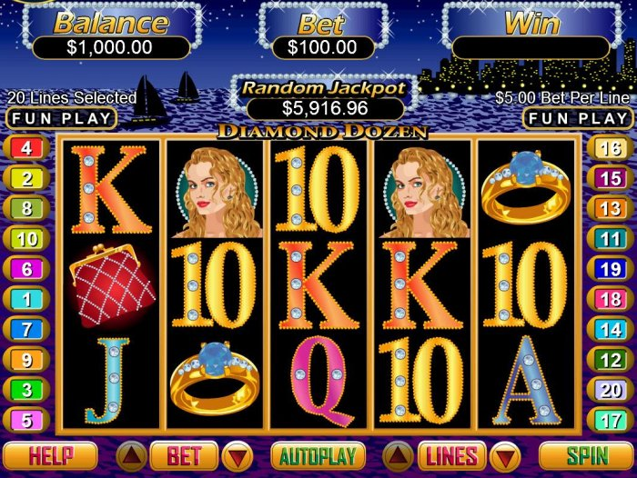 All Online Pokies image of Diamond Dozen