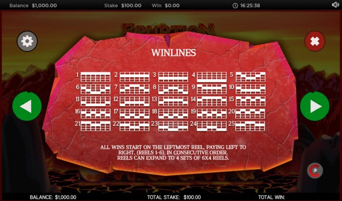All Online Pokies image of Eruption