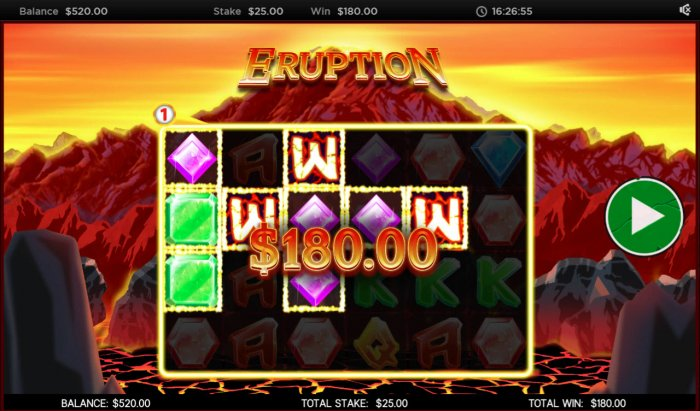 Eruption by All Online Pokies