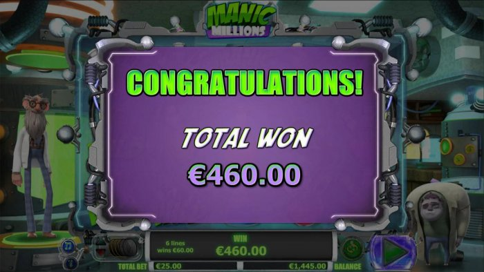 Manic Millions by All Online Pokies