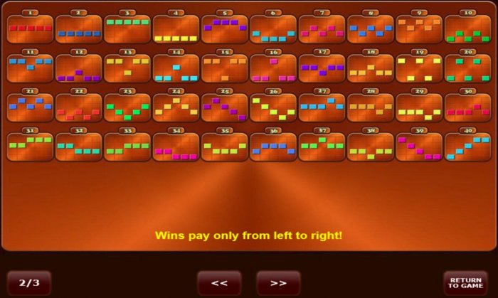 All Online Pokies - Win Lines 1-40