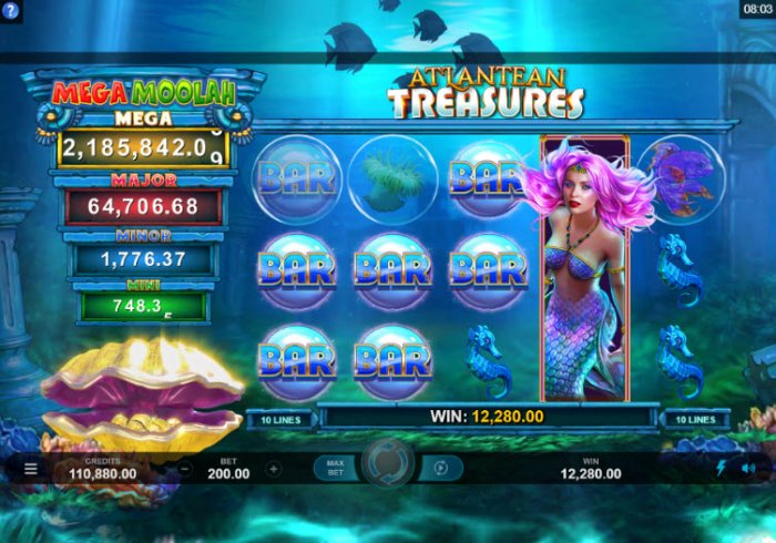 Mega Moolah Atlantean Treasures by All Online Pokies