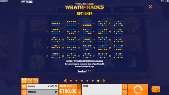Paylines 1-25 - All Online Pokies