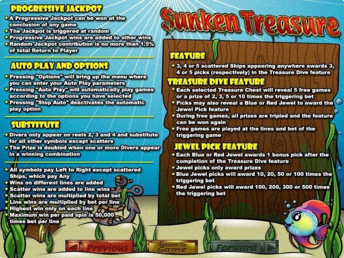 Sunken Treasure by All Online Pokies