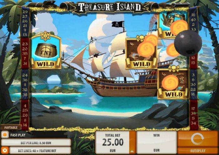 All Online Pokies image of Treasure Island