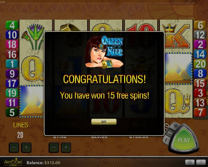 All Online Pokies image of Queen of the Nile