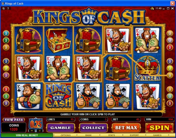 Kings of Cash by All Online Pokies