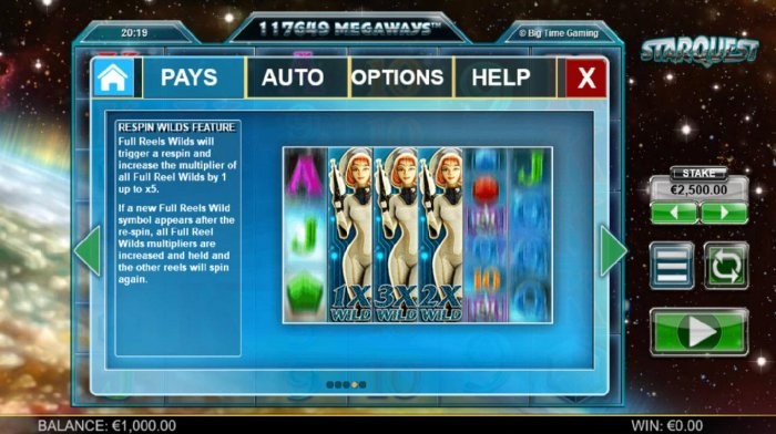 Starquest by All Online Pokies
