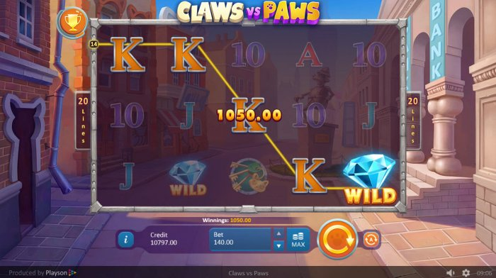 A winning five of a kind by All Online Pokies
