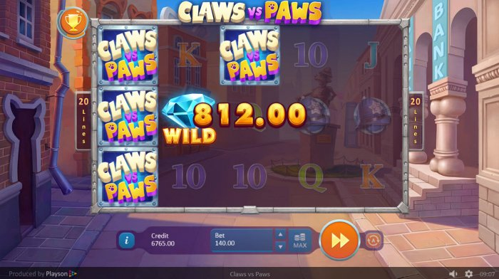 All Online Pokies image of Claws vs Paws