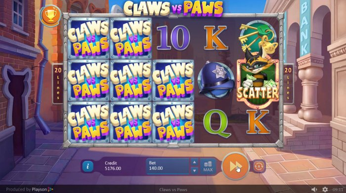 All Online Pokies - Multiple winning paylines triggers a big win
