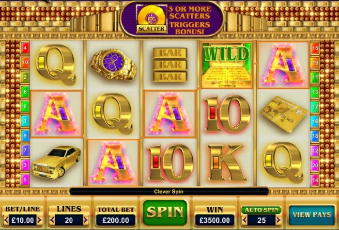 A five of a kind combines with a wild multiplier and triggers a 3,500.00 Big Win! by All Online Pokies