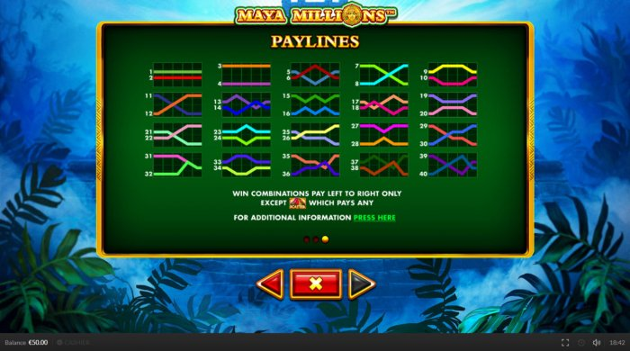All Online Pokies - Paylines 1-40